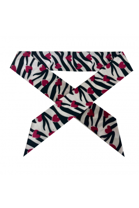 HANDLE BANDEAU HEARTS & STRIPES